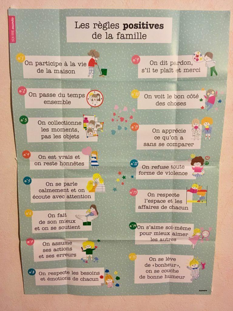 Les r gles positives de la famille for my child kids education positivity et education - Cadre les regles de la maison ...