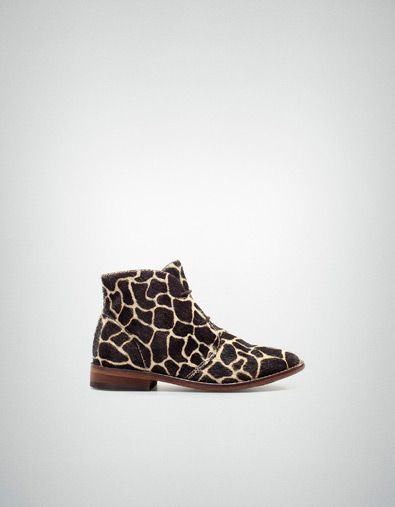 ANIMAL PRINT ANKLE BOOT - Shoes - Girl
