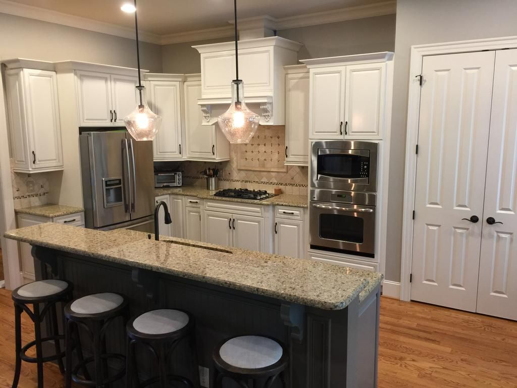 Best Moderate White Anonymous Island Kitchen Remodel White 400 x 300
