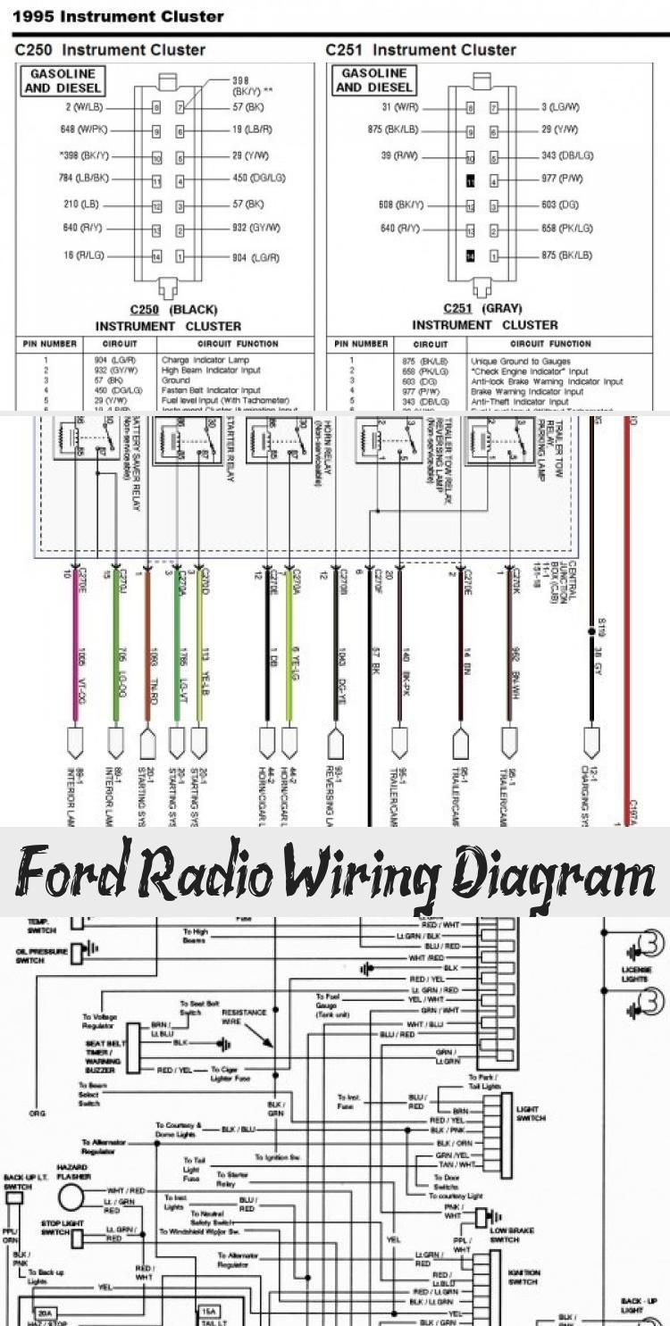 Ford Radio Wiring Diagram Cars In 2020 Ford Ford Ranger Radio