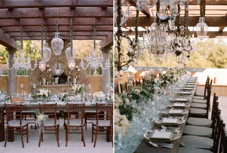 Chic Chandeliers | Chandeliers, Outdoor weddings and Receptions