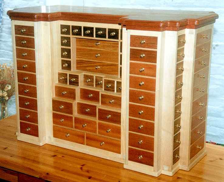 CA352 Wood Heavy Duty Mobile Multi Drawer Storage Cabinet By Candex. (wood  Drawers, Painted Cabinet.)