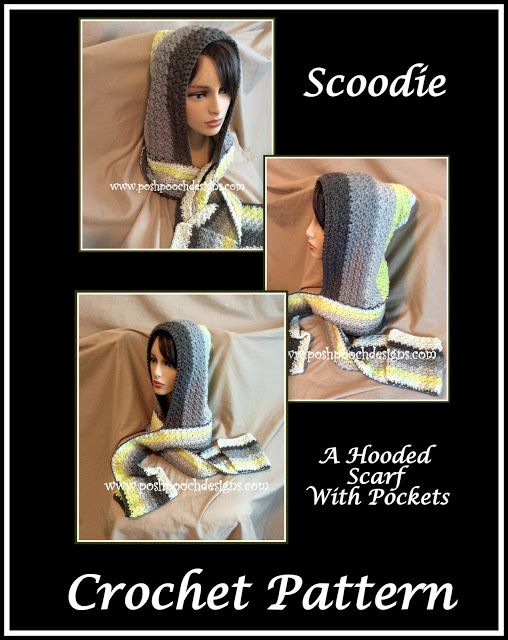 Scoodie hooded scarf with pockets free crochet pattern hooded posh pooch designs dog clothes scoodie hooded scarf with pockets free crochet pattern dt1010fo