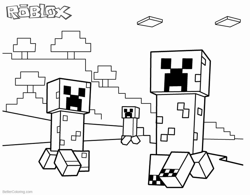 Minecraft Creeper Coloring Page Beautiful Roblox Minecraft Coloring Pages Creepers Free Printable Minecraft Coloring Pages Coloring Pages Lego Coloring Pages
