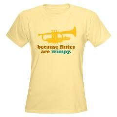 1a2e1701 trumpet t shirt sayings | Band Trumpet Quote Women's Light T-Shirt > Funny  Trumpet Band Music T ..