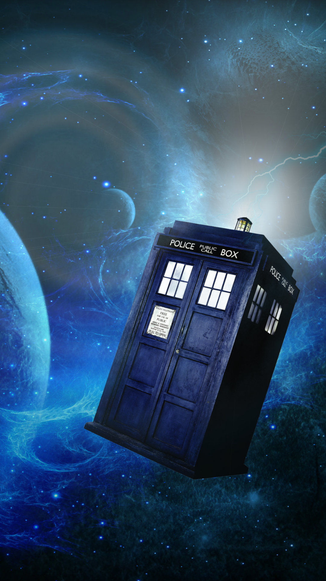 Doctor Who in the funny sky iphone case