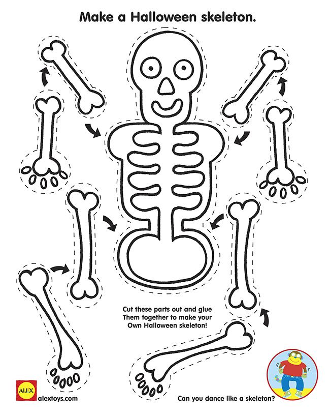 Halloween Homeschool lesson plans- Skeleton Hiccups Lesson Plans