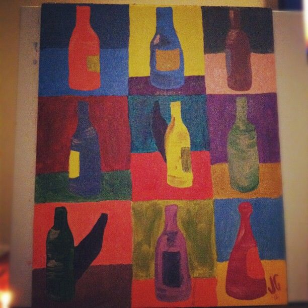 Andy Warhol inspired wine bottles