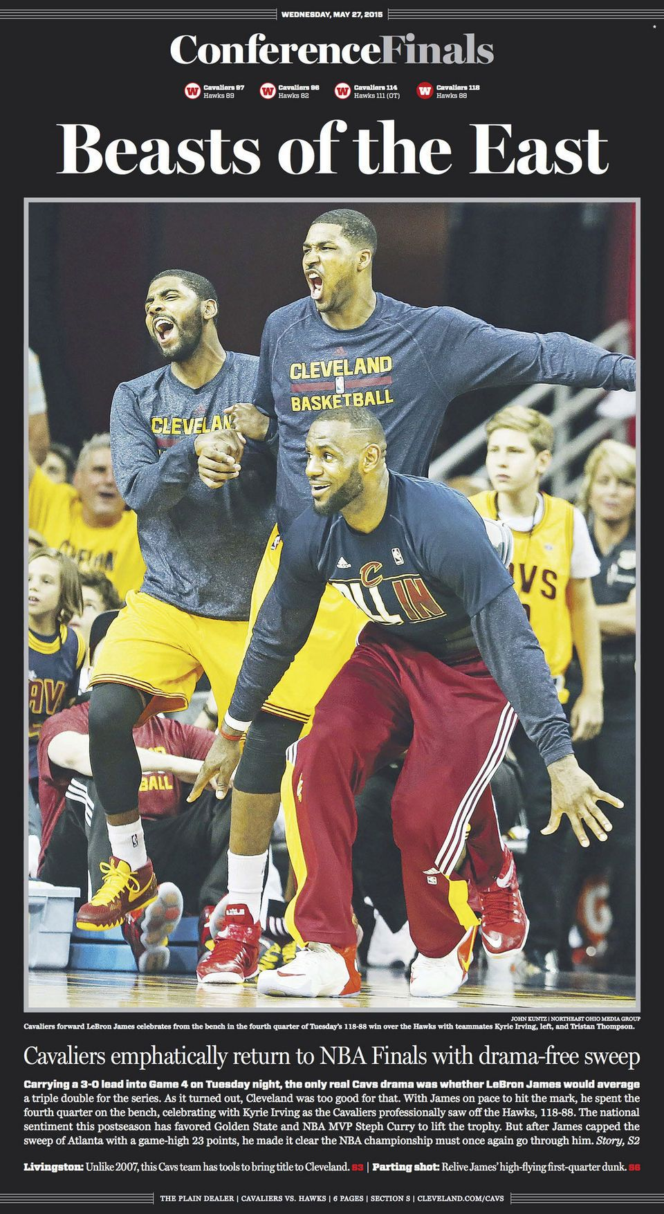 3f826af8c4a See newspaper pages on Cleveland Cavaliers winning NBA Eastern Conference  championship by The Plain Dealer