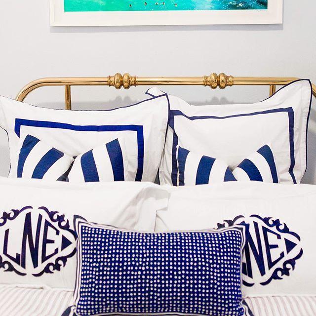 Rise and shine.  #goodmorning #blueandwhite #stripes #thatsdarling #inspiredbythis