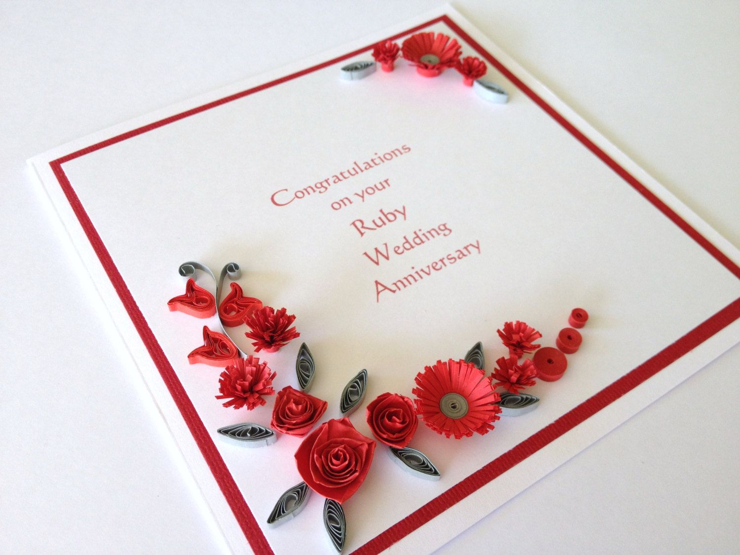 40th Wedding Anniversary Flower | 40th Ruby Wedding Anniversary ...