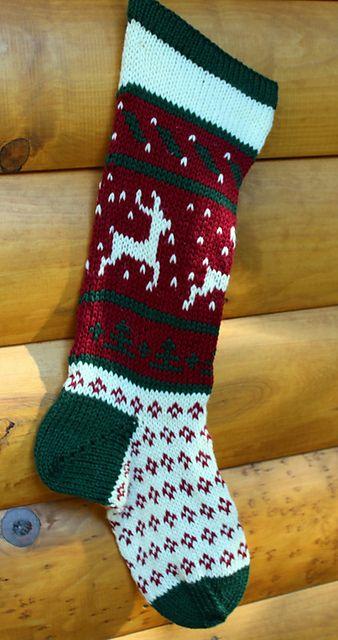 0 Christmas Stocking Dancing Deer pattern by Cindy Steinberg ...