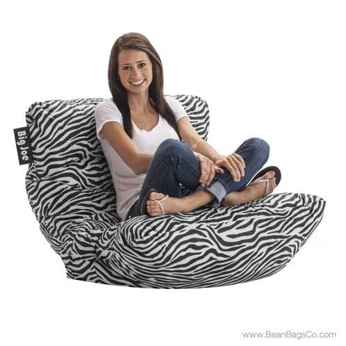 Big Joe Roma Bean Bag Chair Zebra In 2019 Zebra Print