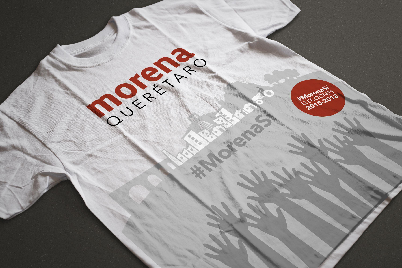 Mockup Playera para MORENA Querétaro. Elecciones 19dc466ea487f