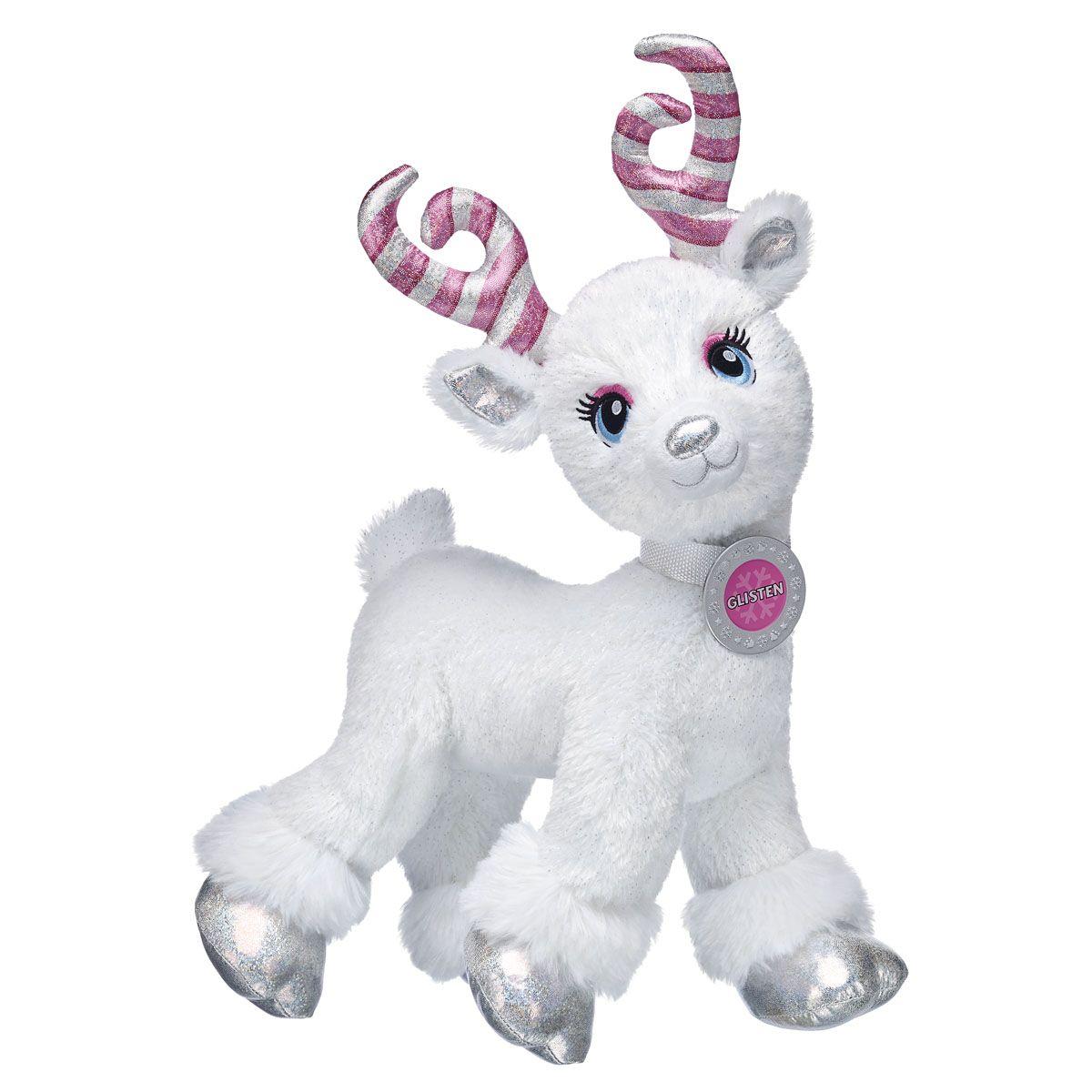 Candy Cane Glisten Build A Bear Reindeer Custom Stuffed Animal Teddy Bear Gifts