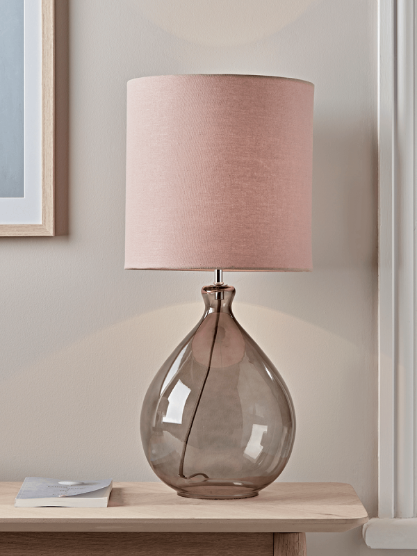 Sanna Smoke Blush Table Lamp