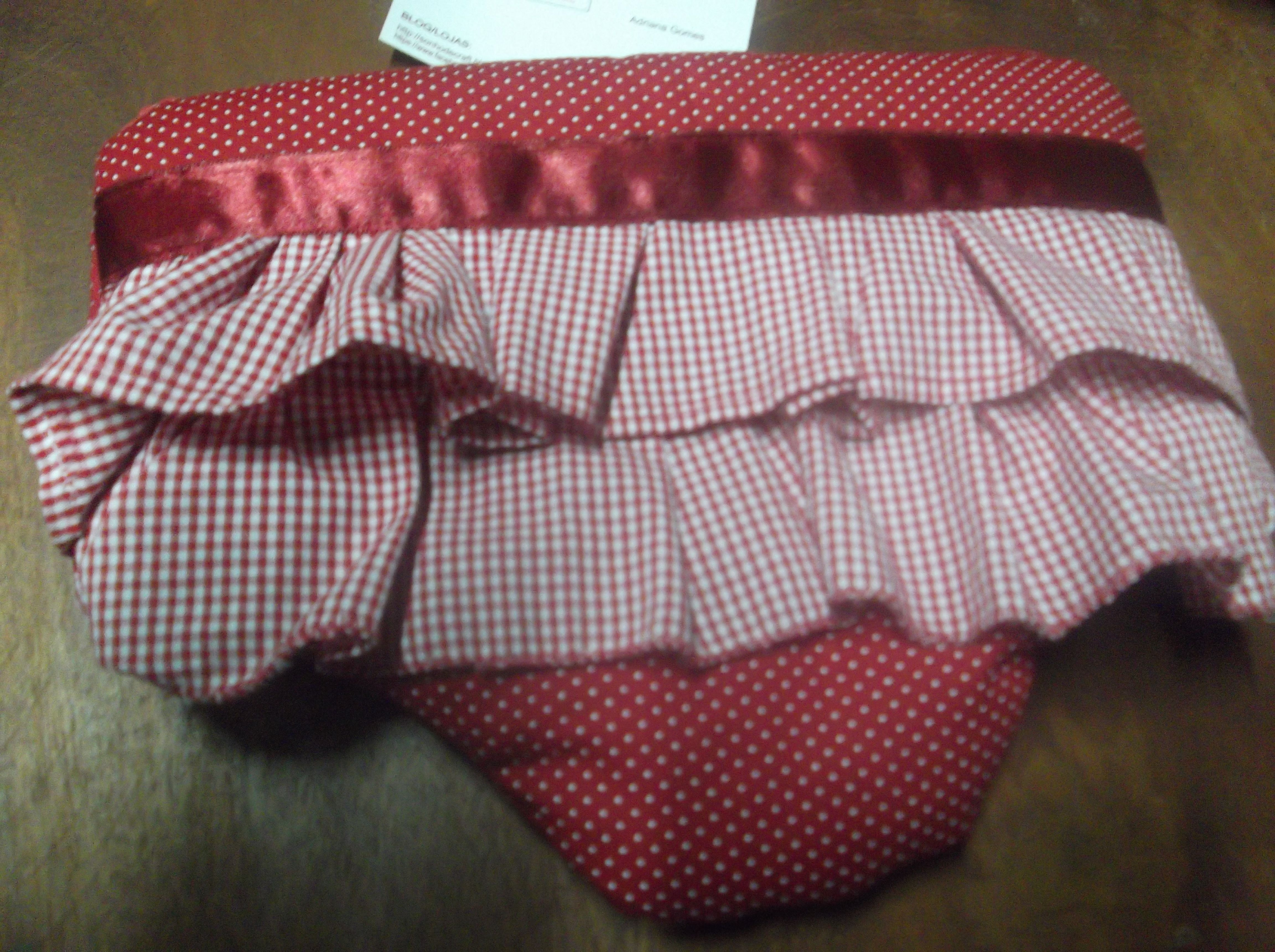 Sonho de Craft calcinha necessaire com babadinhos :)