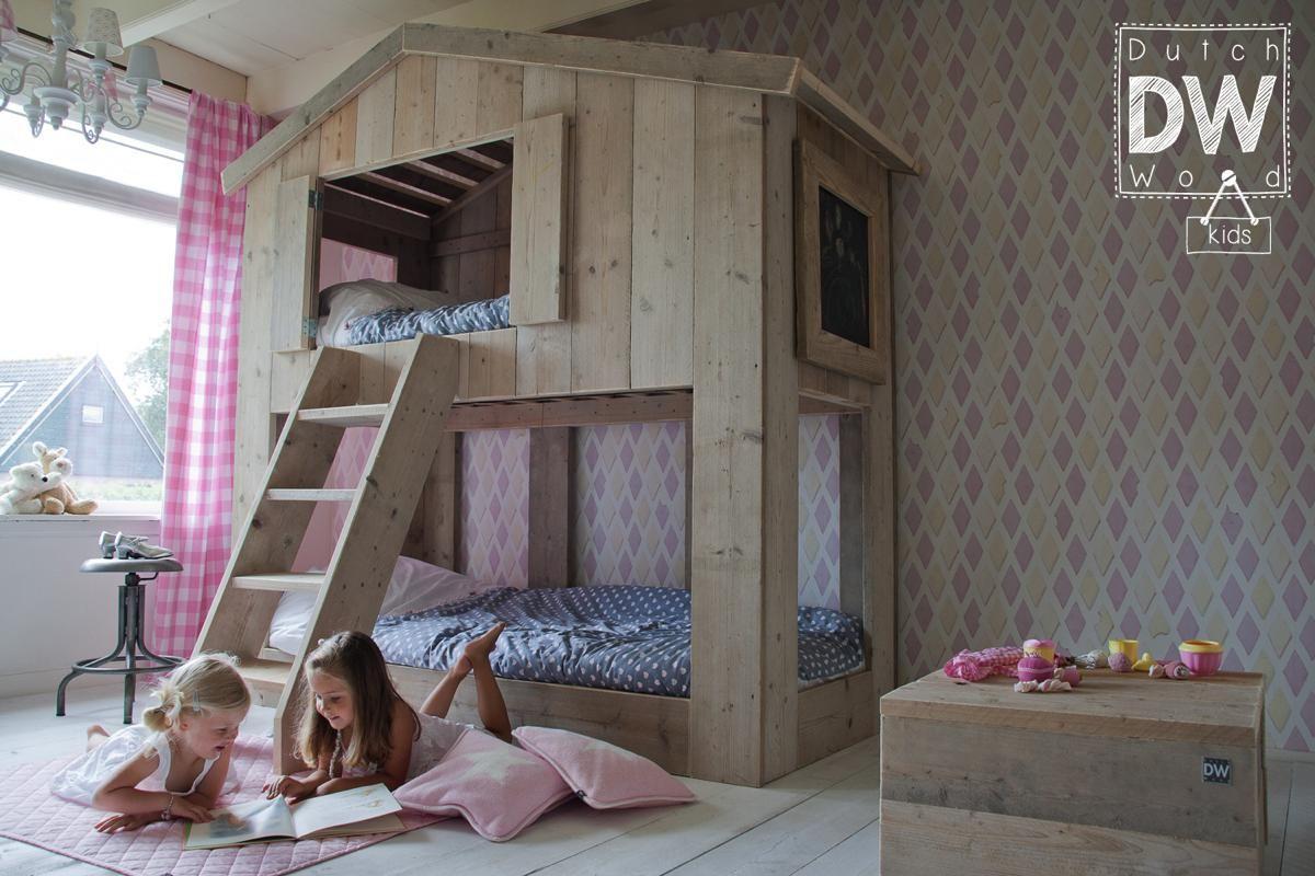 Lit cabane enfant de la marque dutchwood lit cabane - Chambre enfant cabane ...