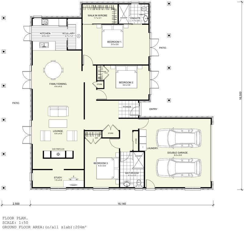 Design And Floor Plan Copyright Harwood Homes Nz Limited