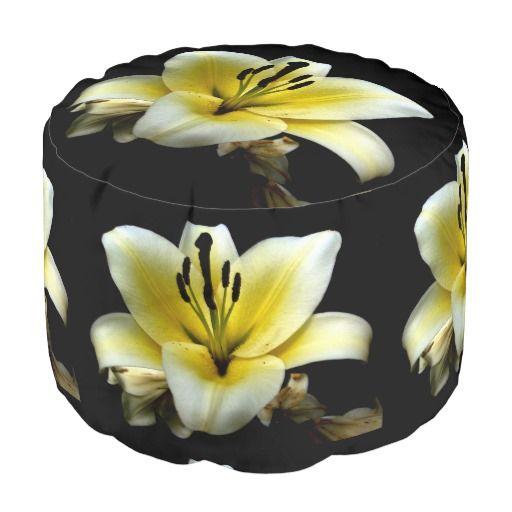 Flowers Round Pouf