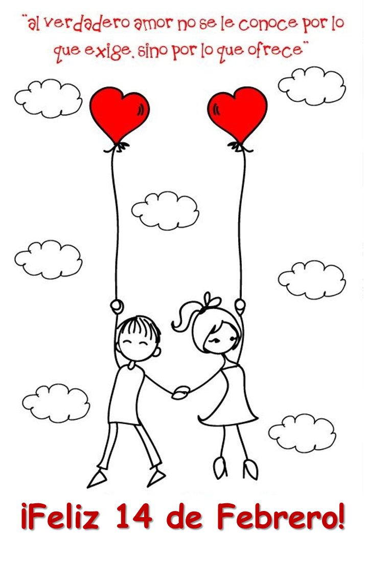 Imagenes Para El 14 De Febrero Frases Para Mi Novia Dibujos Enamorados Feliz Dia De San Valentin Dia De San Valentin