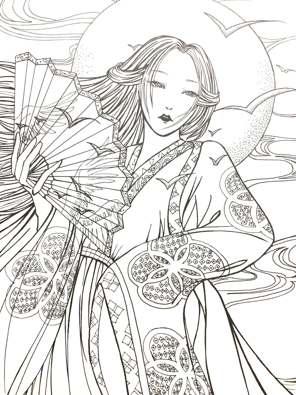 Раскраски китайские картинки