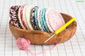 Petits projets de crochet simples: faites des choses utiles vous-même   – Kleinigkeiten – Bordüren häkeln/stricken/Blüten und Blätter