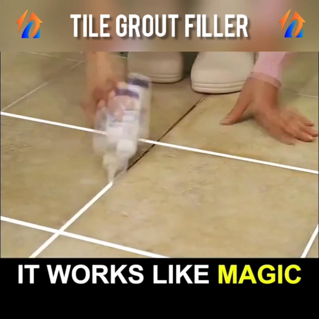 Tile Gap Filler Video Grout Cleaning Diy Bathroom Cleaning Hacks Cleaning Hacks
