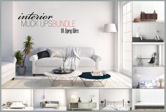 interior mockups bundle stock photo by HisariDS Mockup Design on