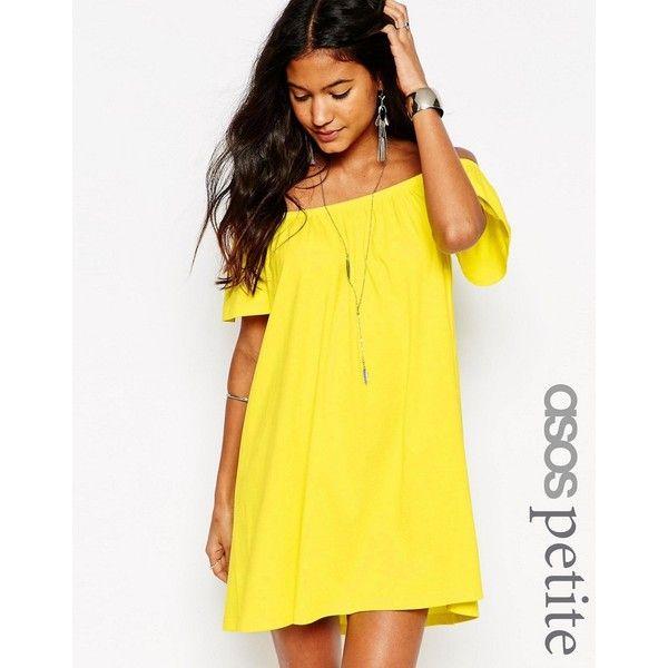 ASOS PETITE Off Shoulder Mini Dress ($25) ❤ liked on Polyvore ...