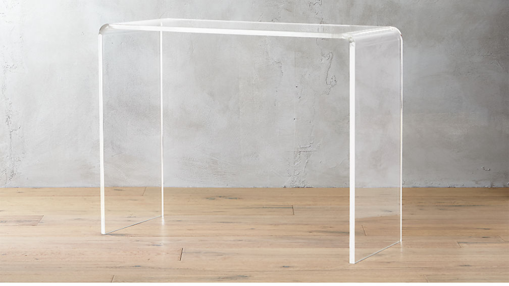 Peekaboo 38 Acrylic Console Table Reviews With Images Glass