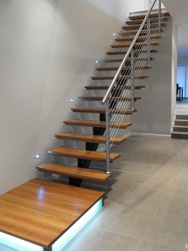 Escalera con pasos tipo alero 2 escalera 1 escalera casa alero y escaleras - Tipo de escaleras ...