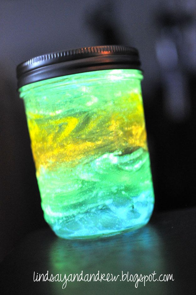 Paint The Inside Of A Jar With Non Toxic Glow In The Dark Paint