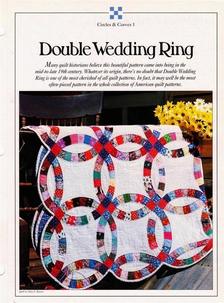 double wedding ring best loved quilt pattern w flexible plastic templates