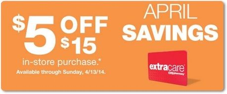 purchased-based coupons issued to some customers, available until 04/13  http://www.iheartcvs.com/2014/04/purchased-based-coupons-issued-to-some.html