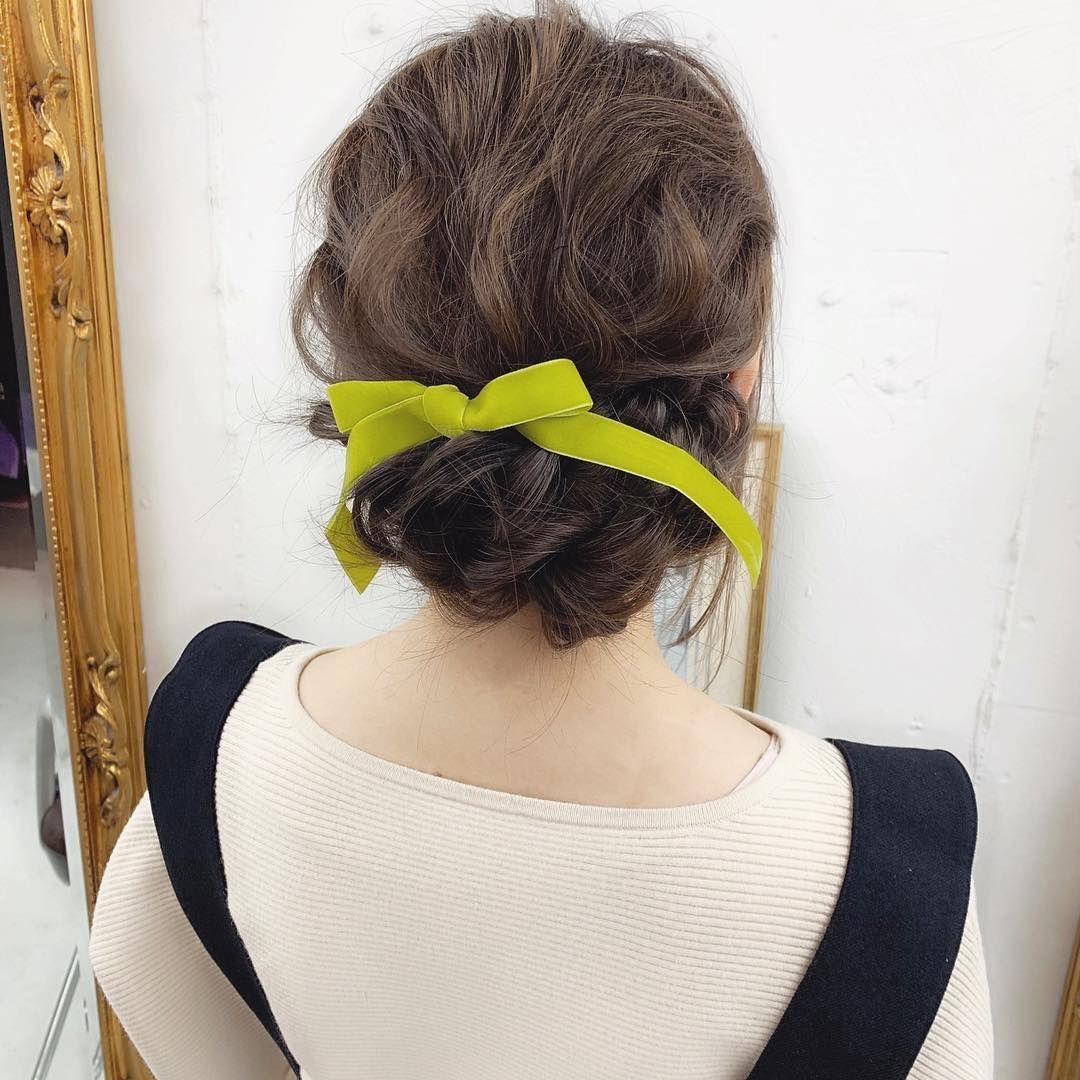 Senga Nao On Instagram 春色りぼんを使ったヘアアレンジ