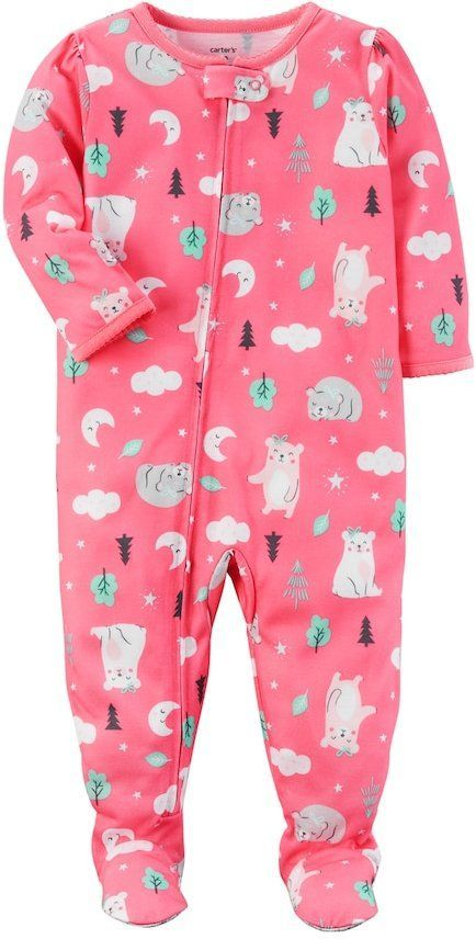 e08ce0f29 Carter s Baby Girl Bear One-Piece Footed Pajamas