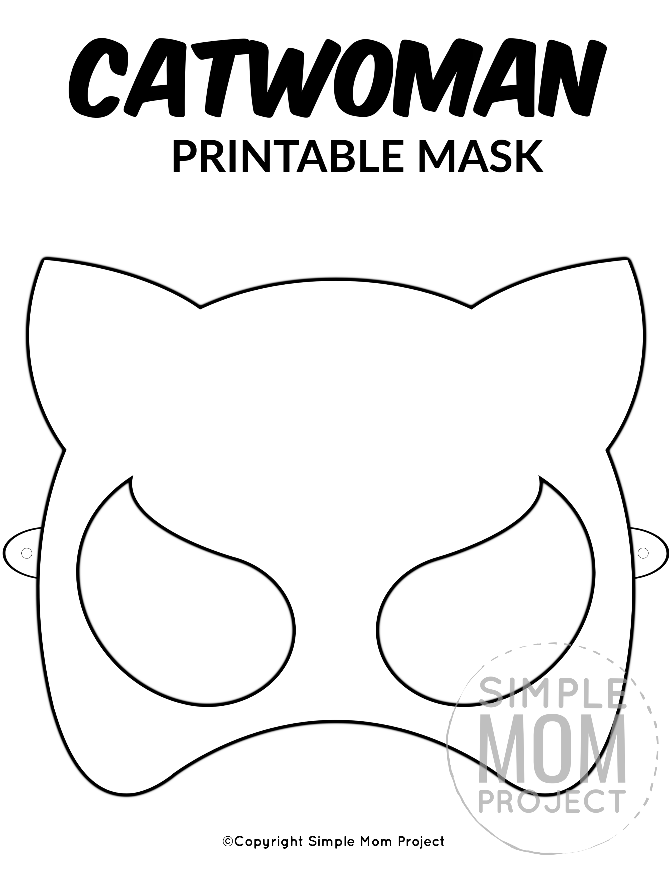 Free Printable Catwoman Mask Template
