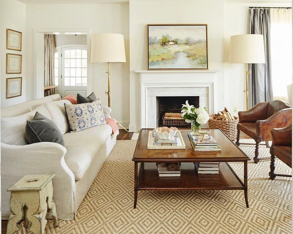 39 Stylish White Walls Living Room Design Ideas images