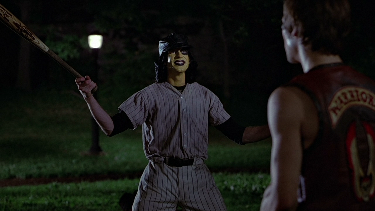 The Baseball Furies And The Warriors Ajax Getting Ready To Rumble In The Park From The Warriors Movie 197 Warrior Movie The Warriors Baseball Furies Warrior
