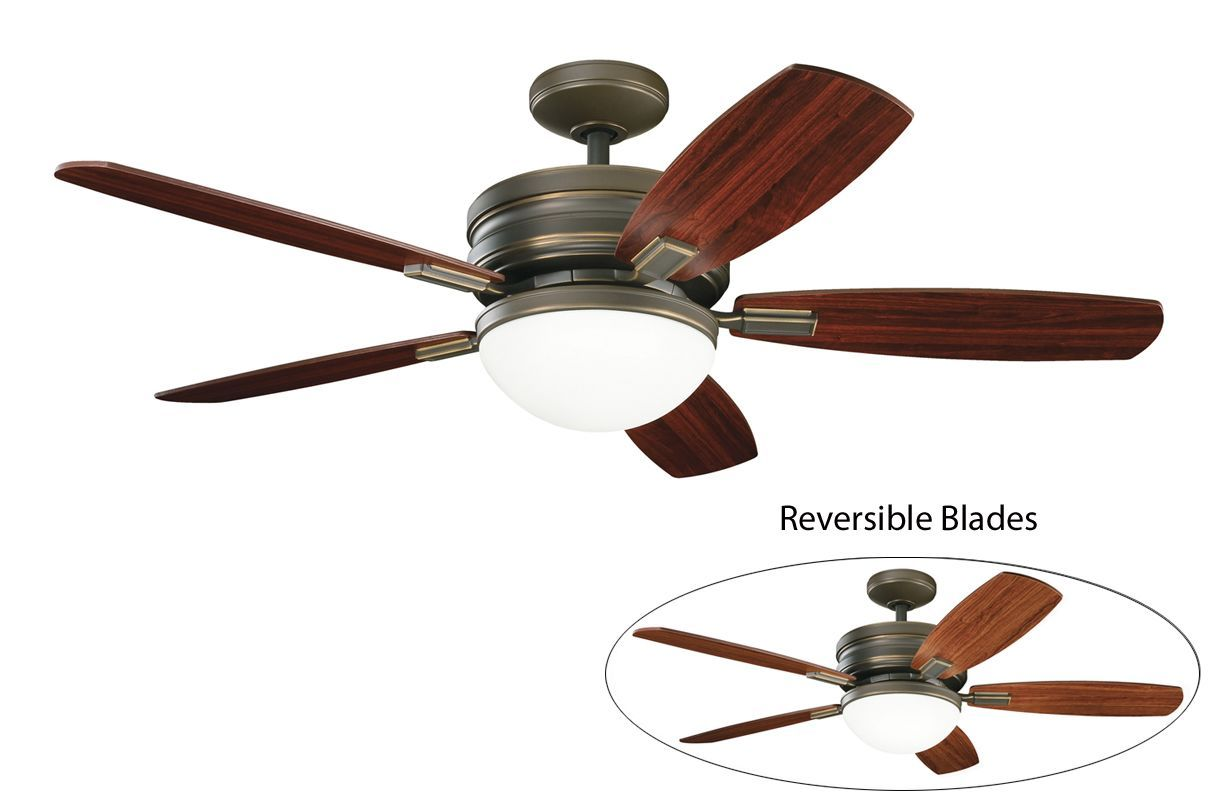 Kichler Carlson 52 Indoor Ceiling Fan With Blades Light Kit