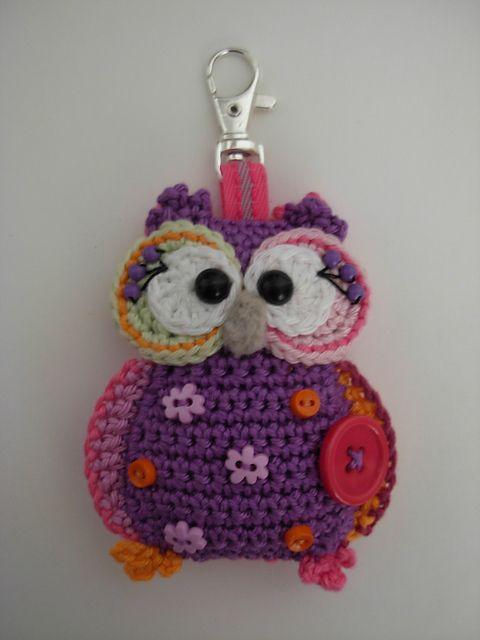 Owl Pendant pattern by Vendula Maderska | Llaveros, Lechuzas y ...