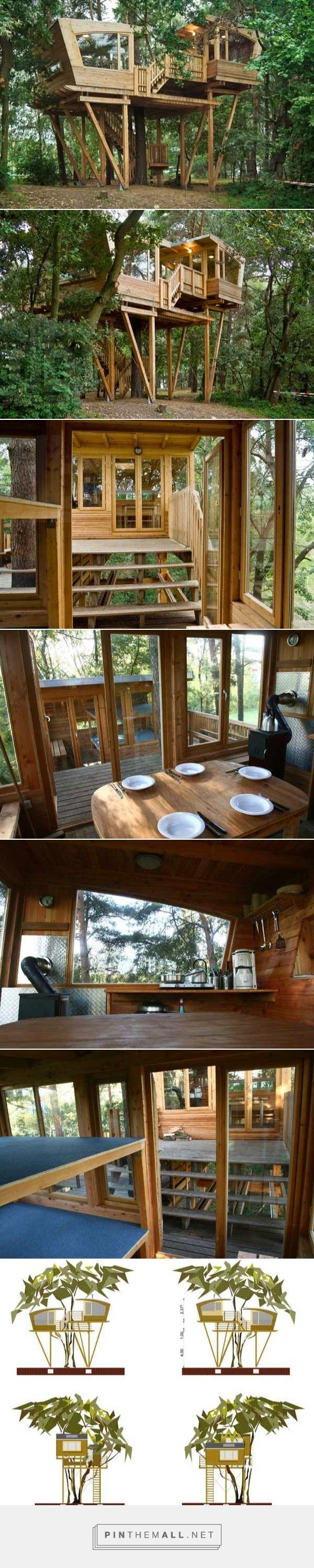 210 sq ft modern treehouse tiny home created via https