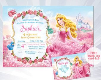 2018 年の princess aurora invitation sleeping beauty princess