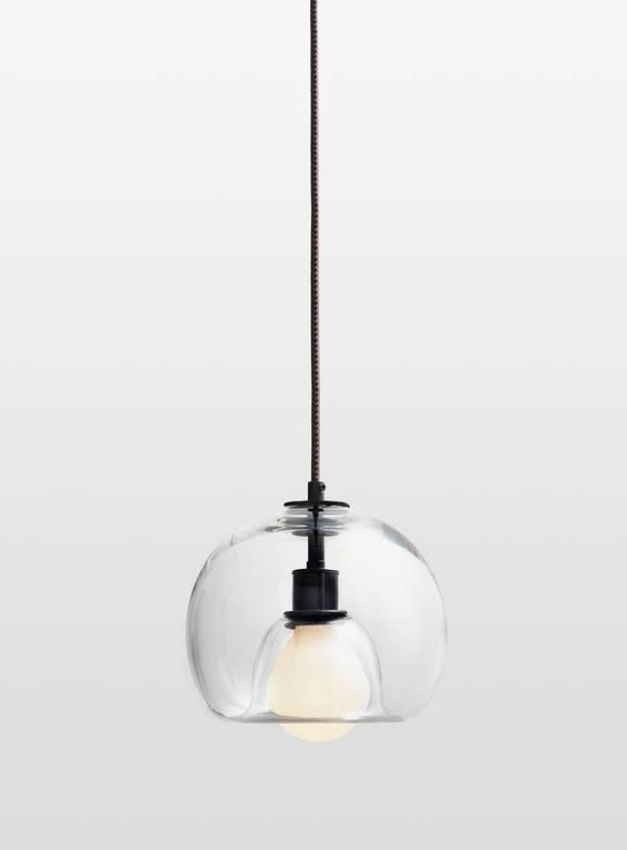 Eres clear handblown glass orb pendant light pendant lighting eres clear handblown glass orb pendant light mozeypictures Gallery