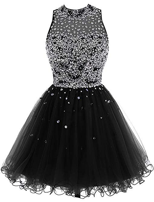 8012f49021d6 Bbonlinedress Short Tulle Beading Homecoming Dress Prom Gown Review ...