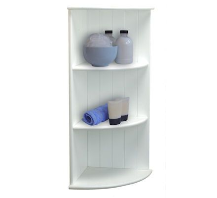 3 tier shaker corner shelf   a place for everything   home sweet. Bathroom Corner Shelf Design   sicadinc com   Home Design Ideas