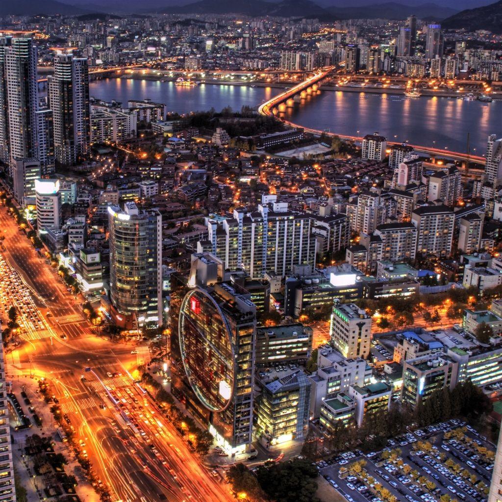 Hd Korsn Movie8 Bath Com: Seoul At Night South Korea IPad Air Wallpaper Download