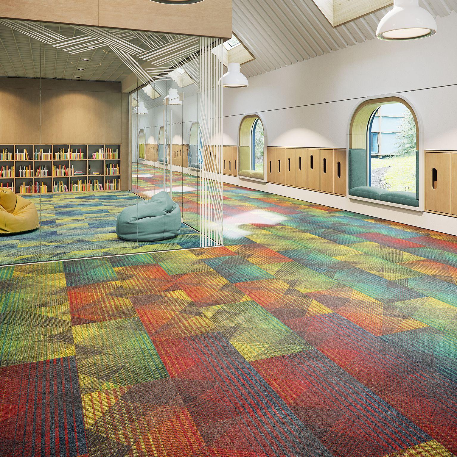 Ray Tracing Full Spectrum Prism Modular Carpet Carpet Installation Modular