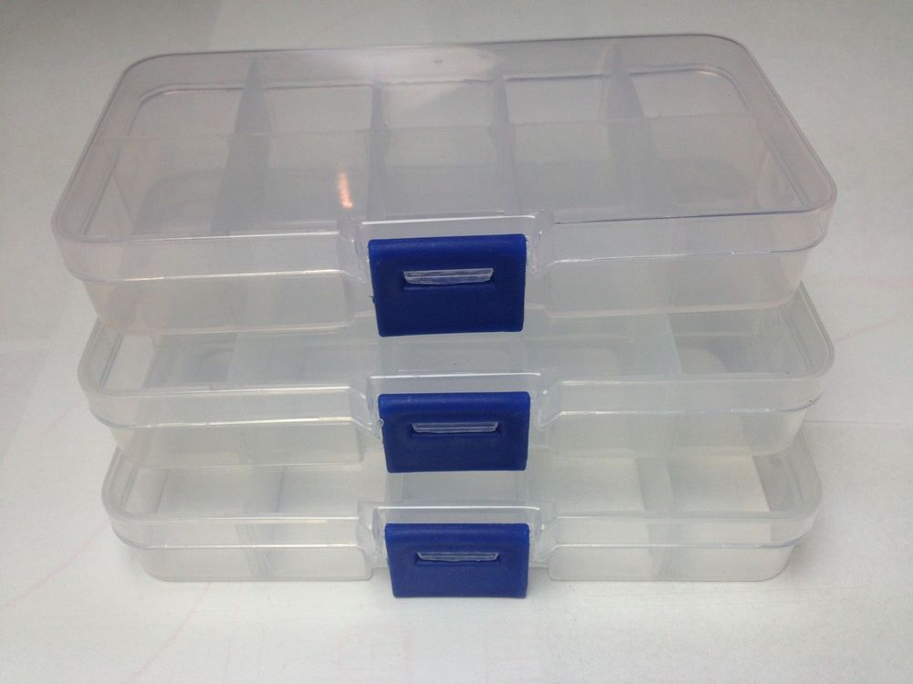Details About Compartment Box Small 3x 10 Organiser Storage Plastic Craft Bead Nail Fuse Beads Com Imagens